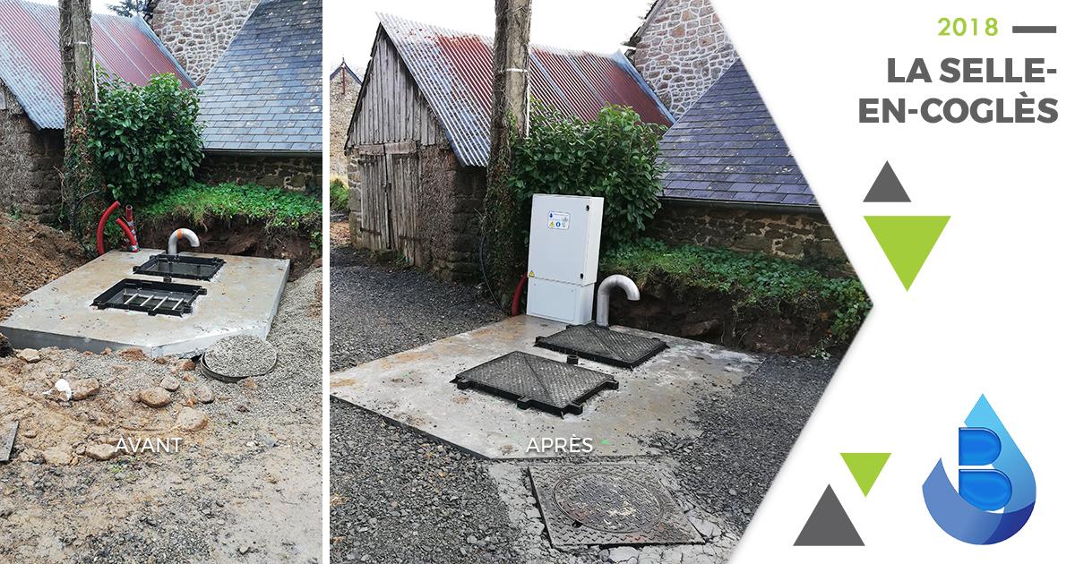 Réalisation du poste de refoulement à La Selle-en-Coglès